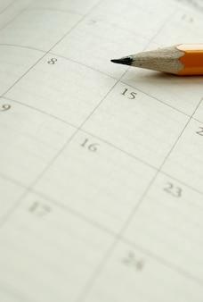 Calendário em um notebook