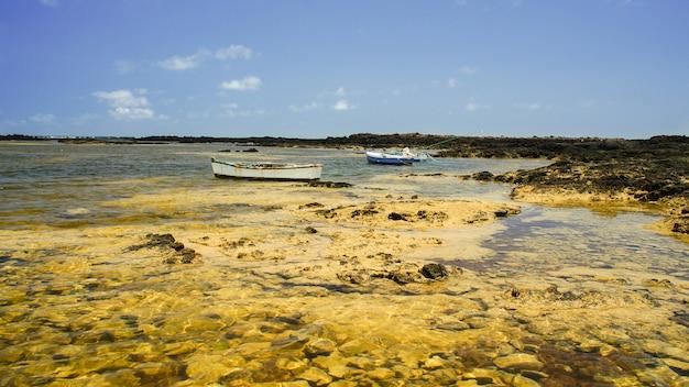 Caleton blanco orzola, lanzarote, ilhas canárias