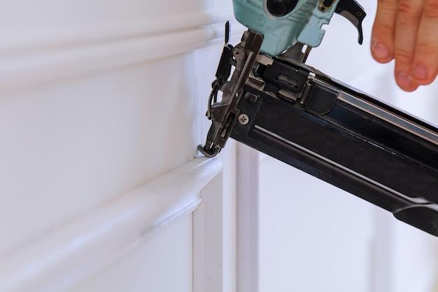 Calibre acabamento nailer homem pregado slats costume contratante da construção de casa