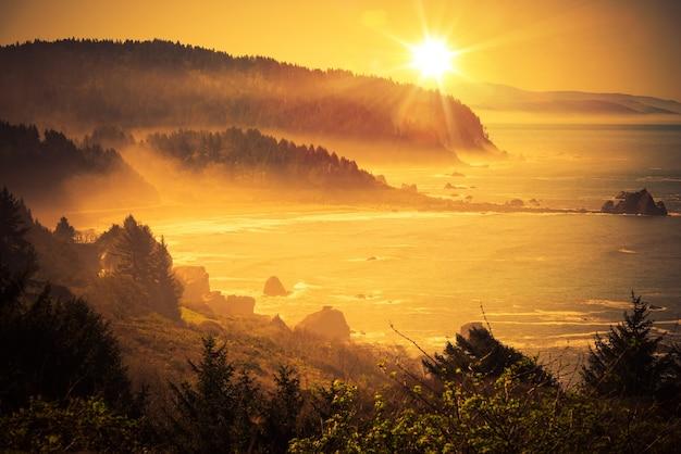 Califórnia coastal sunset