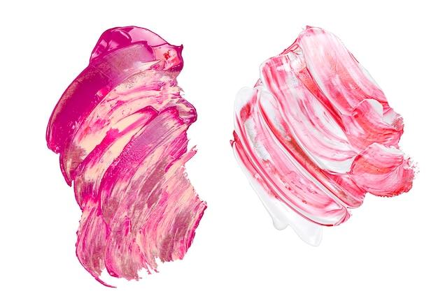 Camada plana com cores de pintura misturadas