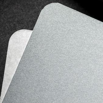 Camada plana de material texturizado cinza