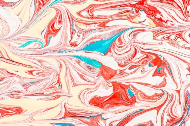 Camada plana de redemoinhos de tinta