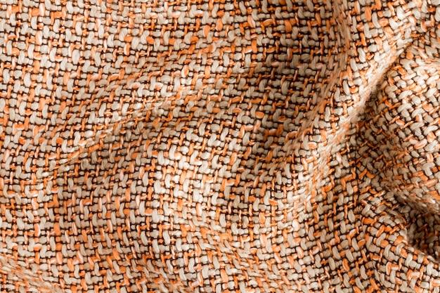 Camada plana do material de tecido