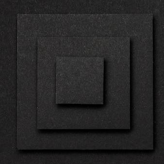 Camadas de fundo de quadrados pretos