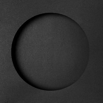 Camadas de papel circular preto