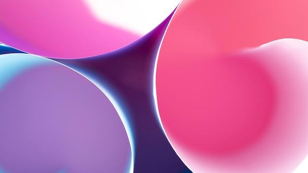 Camadas enroladas de papéis coloridos