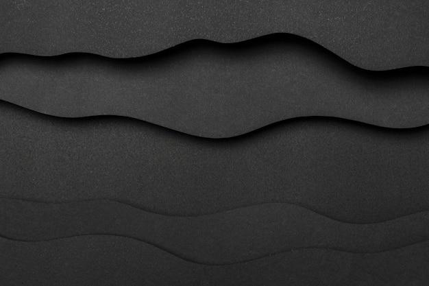 Camadas onduladas de linhas copiam o fundo do espaço
