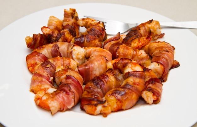 Camarão com bacon