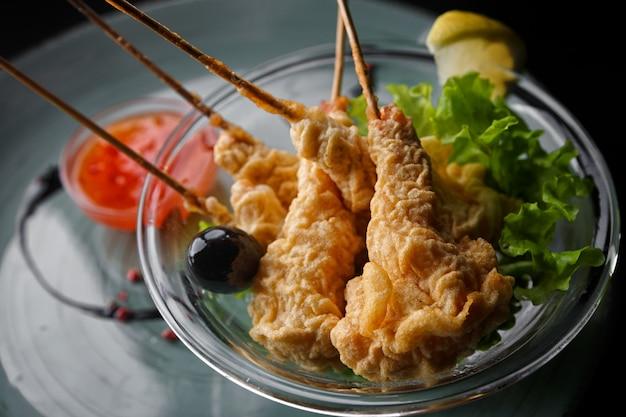 Camarão em tempura