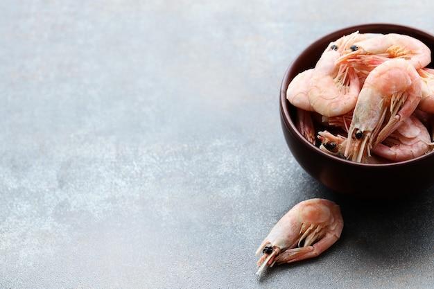 Camarão em uma tigela