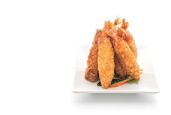 Camarão frito empanado em branco
