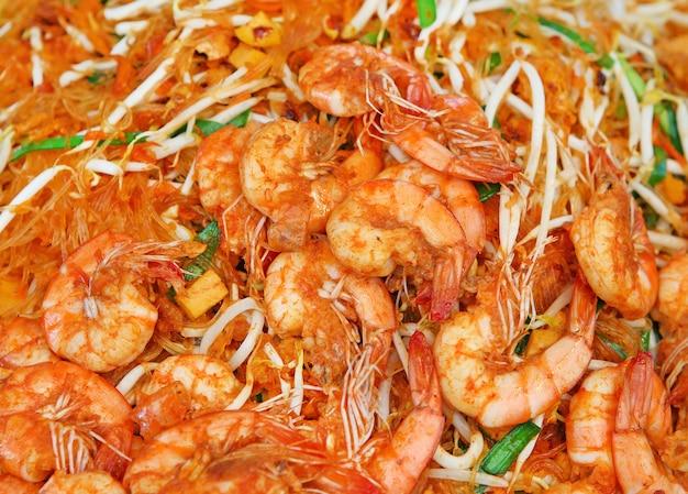 Camarão pad thai, thai food