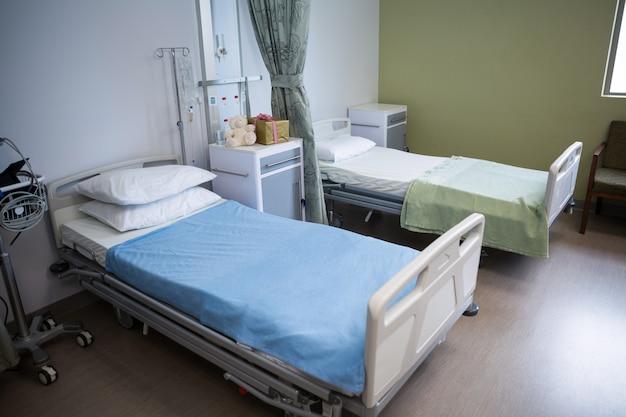 Camas vazias na enfermaria