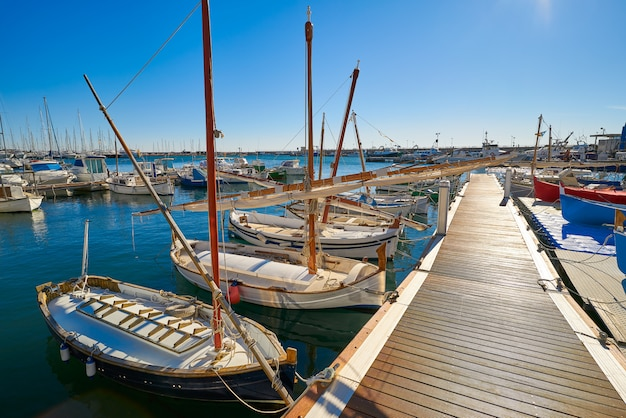 Cambrils port marina em tarragona catalunha