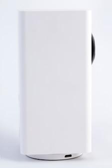 Câmera branca de segurança cctv ou vigilância
