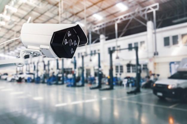 Câmera cctv ip sem fio de sistema externo de segurança com sistema à prova d'água na fábrica industrial