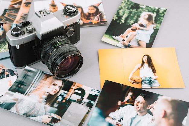 Câmera com fotos