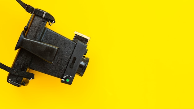 Câmera de alto ângulo com close-up