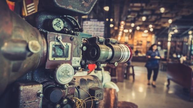 Câmera de filme de vídeo antigo
