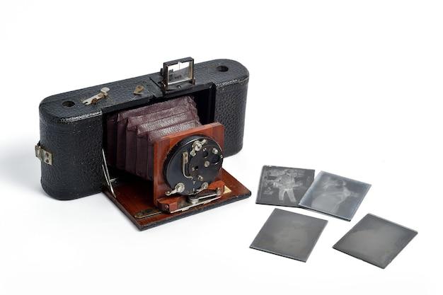 Câmera de filme fotográfico acordeão histórico vintage