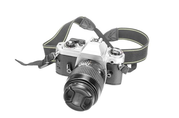 Câmera de foto retrô isolada