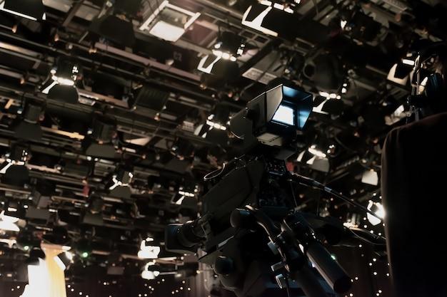 Câmera de gravação de vídeo no estúdio