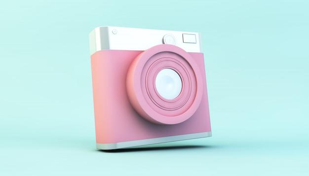 Câmera de mídia social rosa