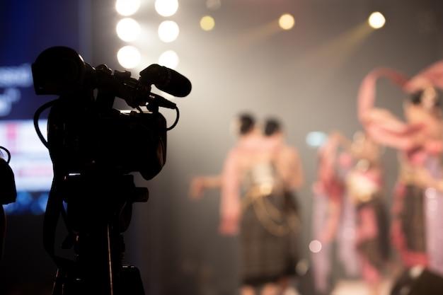 Câmera de produção de vídeo rede social filmagem ao vivo