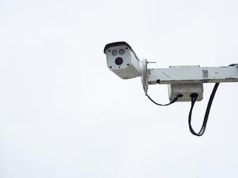 Câmera de segurança CCTV instalada no aeroporto e metrô para monitoramento de segurança