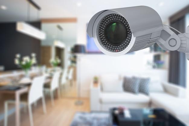 Câmera de segurança com renderização 3d ou câmera cctv interna