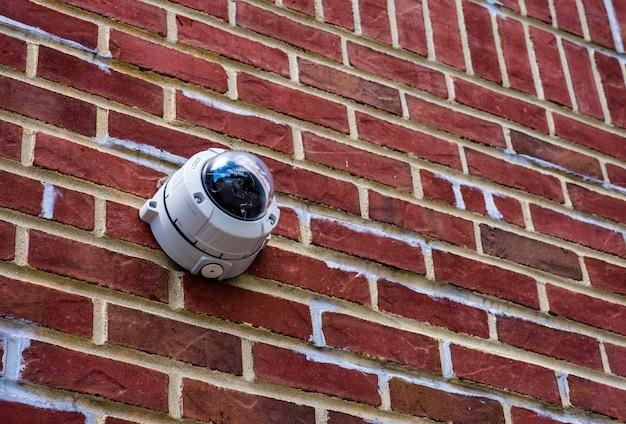 Câmera de segurança na parede