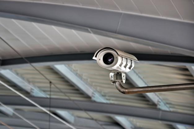 Câmera de segurança ou cctv no aeroporto
