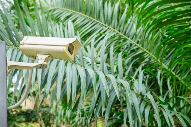 Câmera de segurança para monitorar o lugar de viagem.