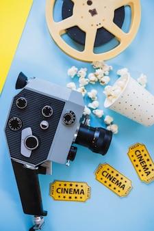 Câmera de vídeo com filmstrip