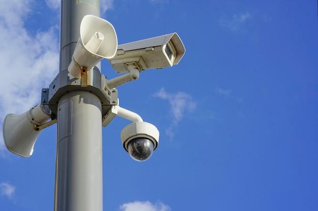 Câmera de vigilância. câmera de monitoramento