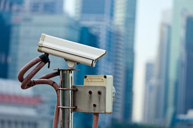 Câmera de vigilância cctv em cingapura