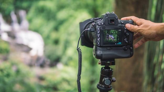 Câmera digital com vista natural