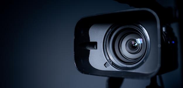 Câmera e lente zoom, foto em close-up