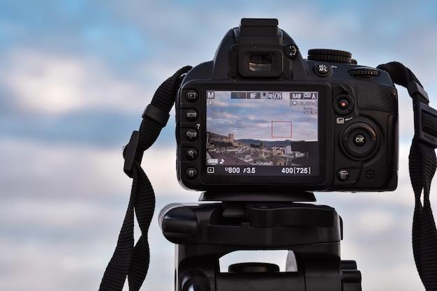 Câmera fazendo um tiro