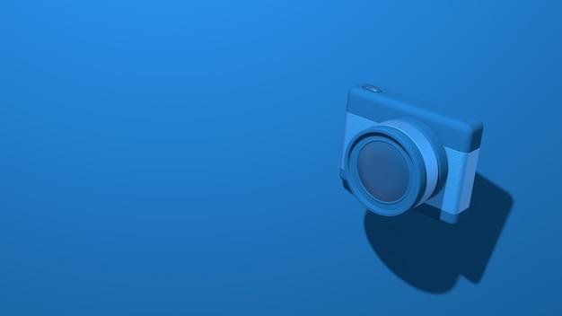 Câmera fotográfica pequena e moderna com uma lente
