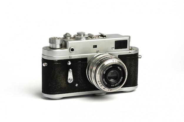 Câmera fotográfica soviética antiga vintage