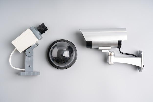 Câmera on-line de segurança cctv com planta da casa