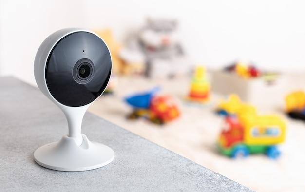 Câmera portátil monitoramento de segurança, sala de jogos para crianças
