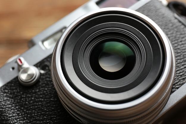 Câmera retro, close up