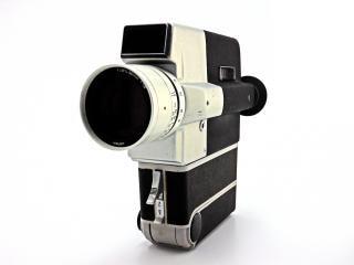 Câmera vintage, a posição