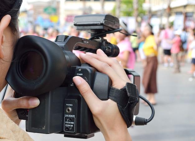 Cameraman gravação de vídeo i