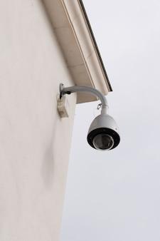 Câmeras de segurança na parede cctv