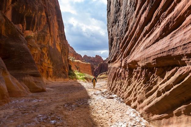 Caminhada nas montanhas de utah