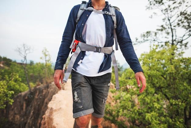 Caminhadas trekking conceito de destino de viagem a pé